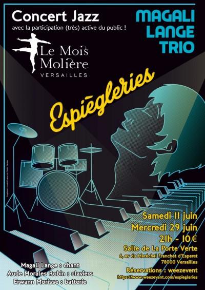 11 et 29 Juin_Affiche_Espiègleries_Magali Lange Trio