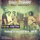 Soirée Reggae  «SOUL DRIFTER» avec en première partie «FUNK FICTION»