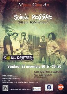 Grande soirée Reggae à la salle Hunebelle le 25 novembre