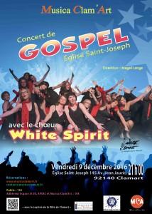 Concert Gospel avec la chorale White Spirit le 9 Décembre