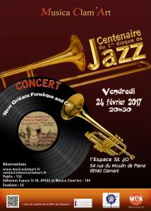 Première soirée MusicaClam'Art avec le jazz à l'honneur.Le 24 février à l'Espace Saint Jo.